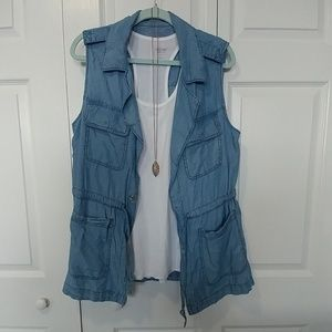 NWOT Sanctuary Chambray Utility Vest